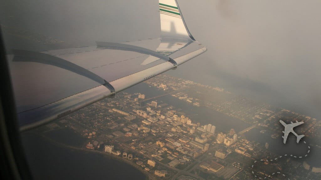 West Palm Beach from the air