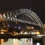 Harbor bridge from the ocean terminal. Sydney, Australia