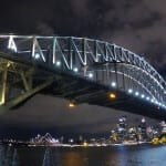 Harbor bridge from Luna Park, Sydney NSW