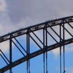 Sydney Harbor Bridge with climbers