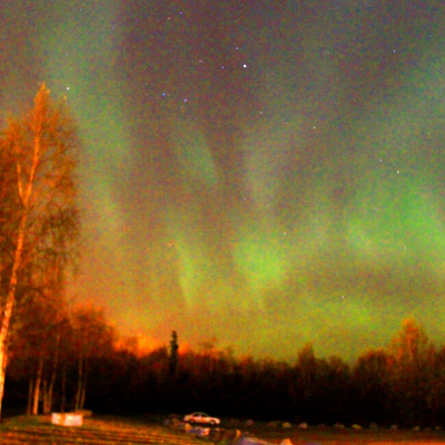 Aurora Borealis from Anchorage, Alaska