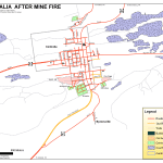 2008 Centralia mine fire map