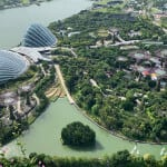 Gardens by the bay during day from DJI Mavic Pro 2