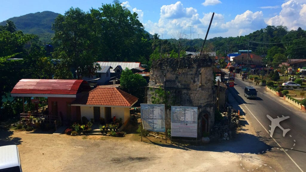Loboc Bell Tower after the 2013 earthquake
