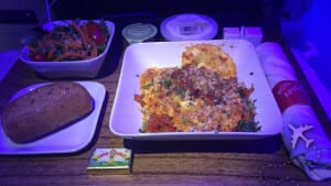 Delta First Class meal service