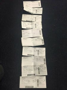 Boarding passes from 2016 Delta Meltdown