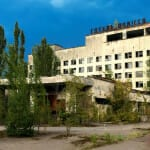 Polissya hotel in Pripyat