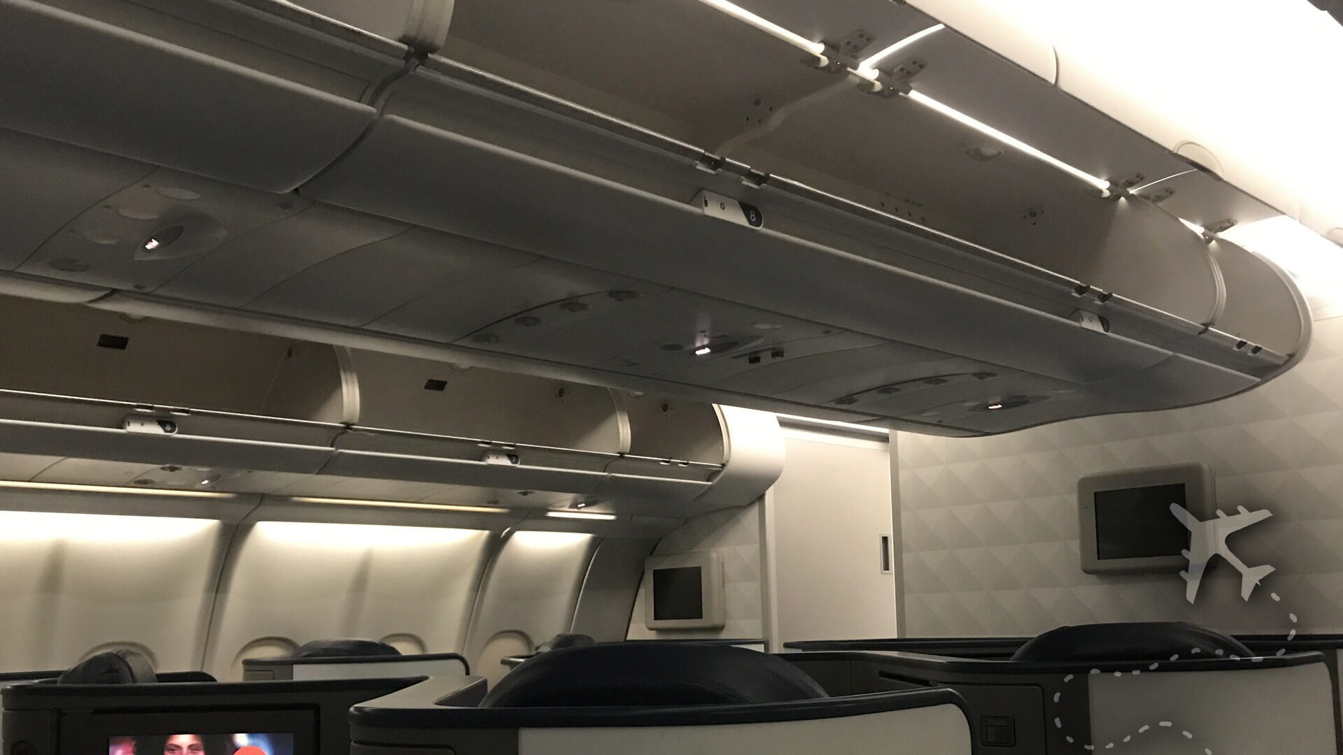 Overhead bin on commercial aircraft