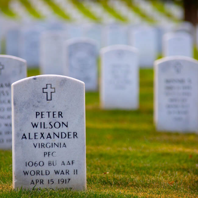 Grave site at Arlington National Cemetery