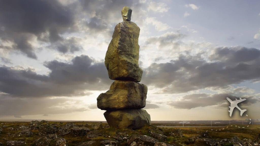 Icelandic rock sculpture
