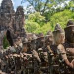 Angkor Thom temple in Cambodia