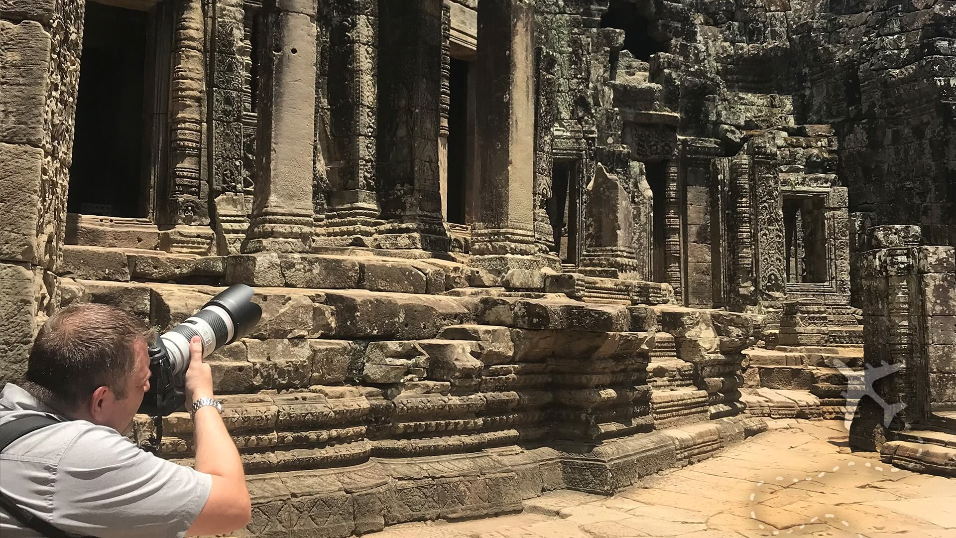 Sean Brown in Angkor Wat