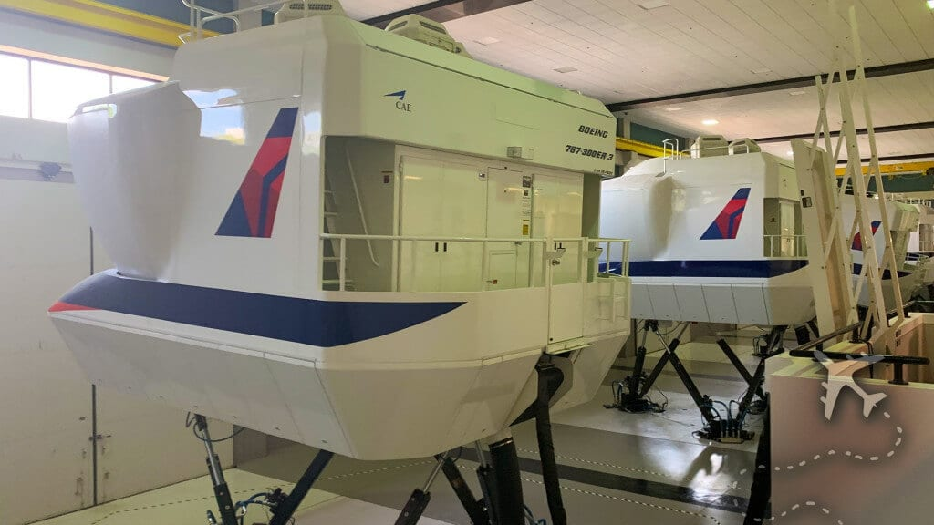 Delta Airlines training simulators