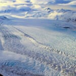 Ice fields of Knik Glacier from Helicopter