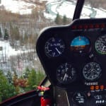Helicopter flight to Knik Glacier
